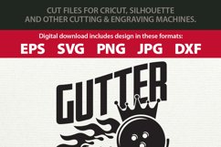 Gutter King - Funny / Sarcastic Bowling SVG for Man Product Image 2