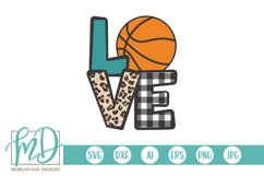 Basketball Mom - Biggest Fan - Love Basketball SVG Product Image 1