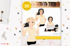 Photographer woman clipart, photography girl , Violet LVA09 Product Image 1
