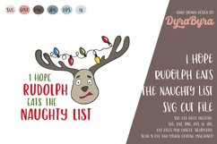 I hope Rudolph eats the Naughty List SVG / Christmas SVG Product Image 2