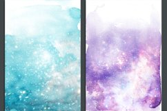 Galaxy Watercolor Ombre Backgrounds Product Image 3