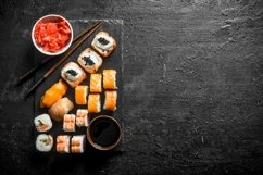 20 Photos Traditional Japanese rolls and sushi . Product Image 5