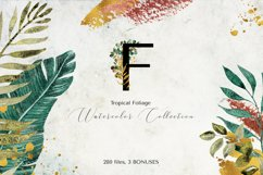 Tropical Foliage Watercolor Set Product Image 14