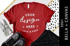 T-Shirt Mockup Bella Canvas 3001 Fashion Blog Style Bundle Product Image 5