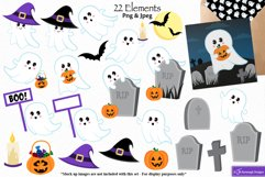 Halloween clipart, Ghost graphics & illustrations C48 Product Image 2