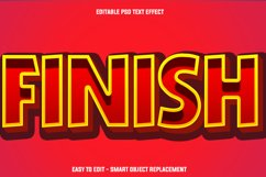 red finish text effect Product Image 1