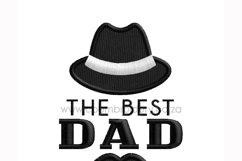 The Best Dad Hat and Mustache Embroidery Design for Machines Product Image 6