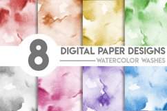 Watercolor Washes Digital Paper Bundle Product Image 1