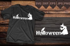 witch SVG-Witch PNG- halloween svg- witch with wand Product Image 2