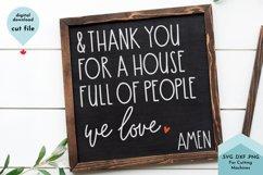 Christian Sign SVG, Gratitude Cut File For Sign Making Product Image 1