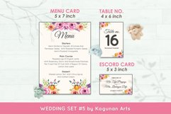 Wedding Invitation Set #5 Watercolor Floral Flower Style Product Image 6