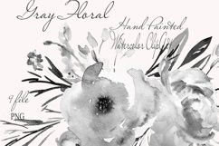 Gray Floral Clipart For Wedding Stationery Product Image 1