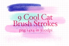 9 Cool Cat Brush Strokes Product Image 1