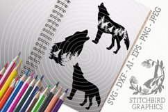 Wolves Bundle SVG, Silhouette Studio, Cricut, Eps, JPEG, PNG Product Image 1