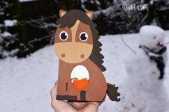 Horse egg holder design SVG / DXF / EPS files. Product Image 3
