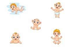 Set of Ten Cartoon Little Babies Character Product Image 3