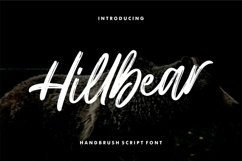 Hillbear - Handbrush Script Font Product Image 1