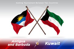Antigua vs Kuwait Two Flags Product Image 1