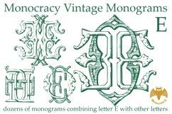 Monocracy Vintage Monograms E Product Image 4