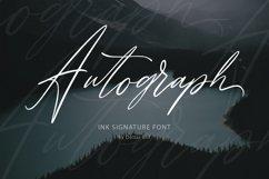 Autograph. Casual signature font. Product Image 1