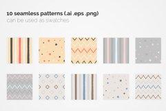 Pastel Geometric Seamless Patterns Product Image 3