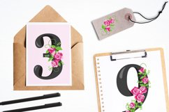 Floral Numbers graphics and illustrations Product Image 4