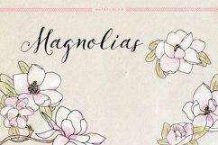 Watercolor Magnolias Product Image 1