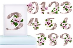 Gold magnolia alphabet and numbers Product Image 6