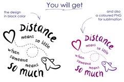 Valentines day svg, long distance relationship svg Product Image 2