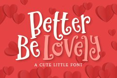 Better Be Lovely Font Product Image 1