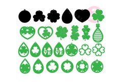 St.Patrick's Day Earring Template |50 Templates Earring svg Product Image 3