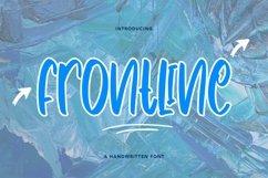 Web Font Frontline - Cute Handwritten Font Product Image 1