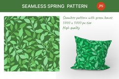 Seamless pattern with green leaves. Spring season Product Image 1