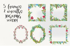 Love forest watercolor set with patterns, cards, wreaths Product Image 4