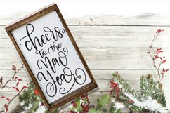 New Year SVG - Cheers to the New Year Hand-Lettered Cut File Product Image 1