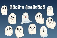 Emotional Ghosts | Halloween Clipart | PNG Product Image 2