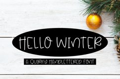 Hello Winter - A Quirky Hand-Lettered Font Product Image 1