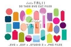 Tags SVG Cutting Files BUNDLE Product Image 1