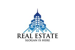 city building , Symbol icon of residential, apartment logo Product Image 1