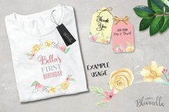 Rose Bliss 7 Frames Watercolor Floral Border Flowers Pink Product Image 4