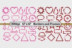 6 Sets x 22 Borders/Frames - Hearts and Tartans and a Floral Product Image 2