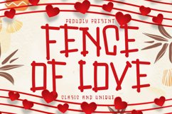 Fence Of Love | A Cute Display Font Product Image 1