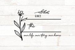 Vol 2 - Family Monogram Sign Bundle Floral Product Image 13