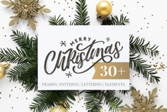 Christmas set | Frames | Patterns | Lettering | Elements Product Image 1
