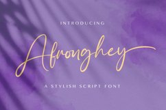Afronghey - Handwritten Font Product Image 1