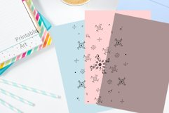 Floral Doodle Ink Pattern, A1, SVG Product Image 5