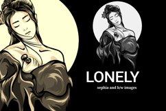 illustration of lonely geisha Product Image 2