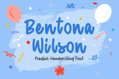 Playful Handwriting Font - Bentona Wilson Product Image 1