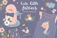 Baby Swan Clipart Patterns Product Image 1