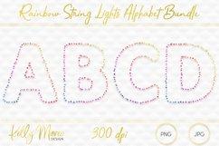 Rainbow String Lights Alphabet Graphic Bundle Product Image 1